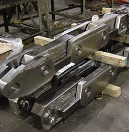 Ferralloy ships forged and completely machined Dummy Bar Chain Assembly